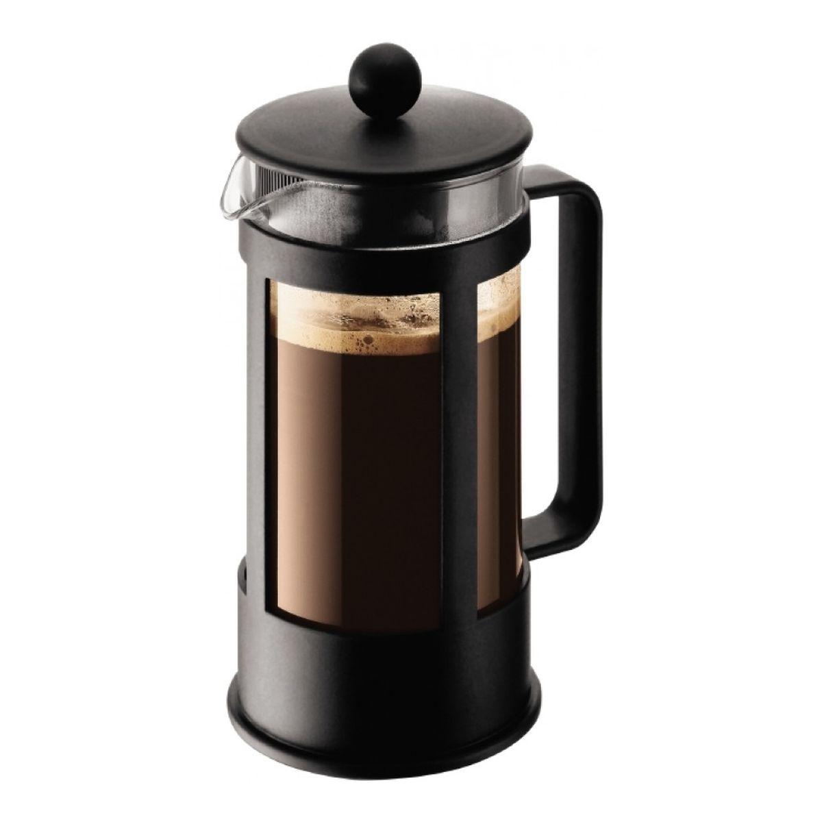 Кофейник Melior Club, с прессом, цвет: черный, 350 млM1783-01Кофейник Melior Club позволит быстро и просто приготовить свежий и ароматный кофе или чай. Цветовая гамма подойдет даже для самого яркого интерьера. Френч-пресс изготовлен из высокотехнологичных материалов на современном оборудовании: корпус изготовлен из высококачественного жаропрочного стекла, устойчивого к окрашиванию и царапинам; фильтр-поршень из нержавеющей стали выполнен по технологии Press-Up для обеспечения равномерной циркуляции воды..Практичный и стильный дизайн кофейника Melior Club полностью соответствует последним модным тенденциям в создании предметов бытового назначения. Объем: 350 мл.