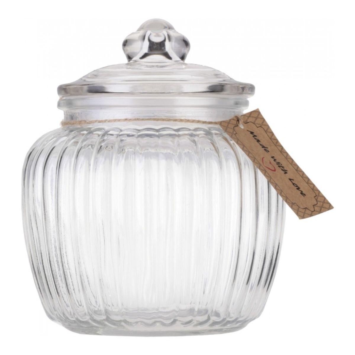 Банка для хранения Walmer Wave, 1,3 лW05120130Банка для хранения Walmer Wave изготовлена из прочного граненого стекла. Изделие снабжено крышкой, которая плотно закрывается благодаря силиконовой прослойке. Изделие имеет прозрачные стенки, поэтому всегда видно, что именно находится внутри. Банка удобна для хранения круп, сахара, специй, кофе или чая. Она стильно дополнит интерьер и поможет эффективно организовать пространство на кухне.Диаметр (по верхнему краю): 10,5 см.Высота (без учета крышки): 13 см.Высота (с учетом крышки): 18 см.