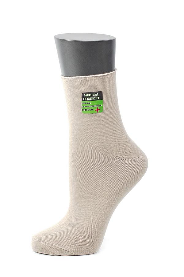 Носки женские Alla Buone, цвет: бежевый. CD027. Размер 23 (35-37) футболка женская alla buone liscio цвет красный 7047 размер l 46 48