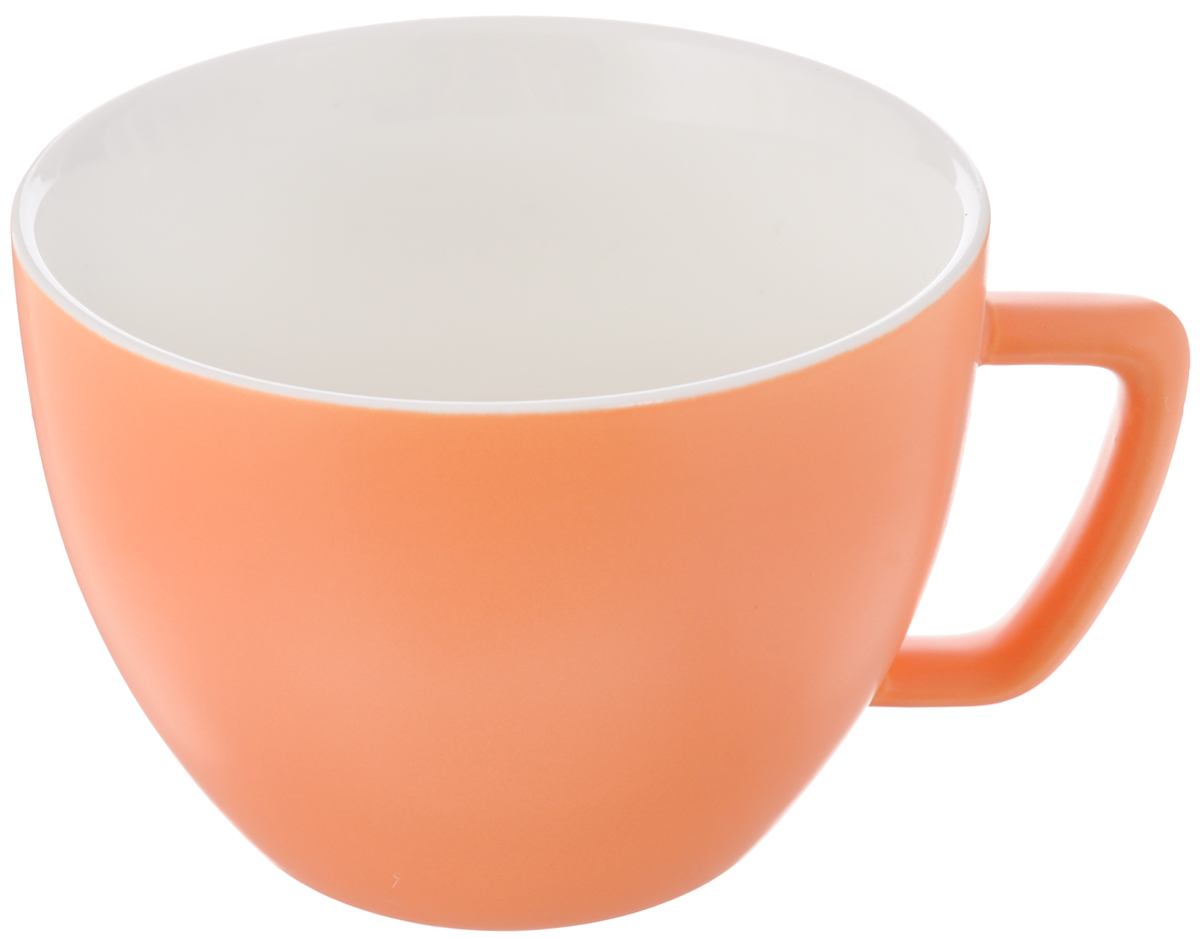 "Кружка Tescoma ""Crema Tone"", цвет: оранжевый, 550 мл"