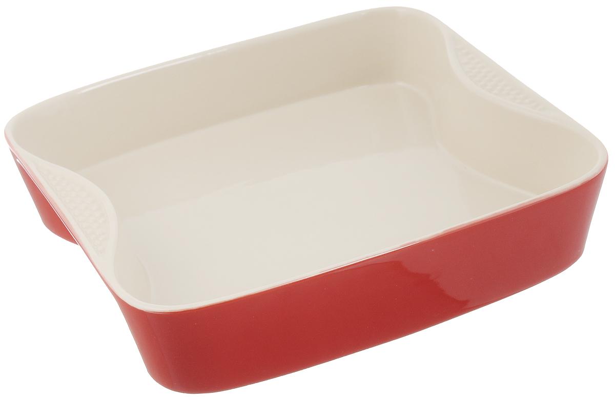 Форма для выпечки Mayer & Boch, квадратная, керамическая, 27 х 27 см21768Форма для выпечки Mayer & Boch выполнена из керамики, благодаря чему пища не пригорает и не прилипает к стенкам посуды. Кроме того готовить можно с добавлением минимального количества масла и жиров. Керамическое покрытие также обеспечивает легкость мытья. Форма идеально подходит для выпечки кексов, пирогов. Изделие оснащено ручками.Можно мыть в посудомоечной машине. Подходит для использования в микроволновой, конвекционной печи и духовке. Подходит для хранения продуктов в холодильнике и морозильной камере.Внутренний размер формы: 25,5 х 21,5 см. Внешний размер формы (с учетом ручек): 27 х 27 см. Высота стенок формы: 6 см. Как выбрать форму для выпечки – статья на OZON Гид.