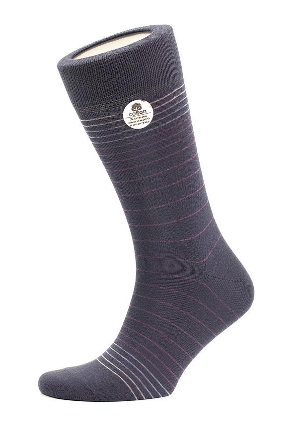 Носки мужские Uomo Fiero, цвет: темно-синий. MS060. Размер 27 (41/43)MS060Мужские носки классической длины Uomo Fiero изготовлены из высококачественного хлопка с добавлением полиамида. Усиленная пятка и мысок обеспечивают долговечностью и комфорт. Носки оформлены узором в тонкую полоску.