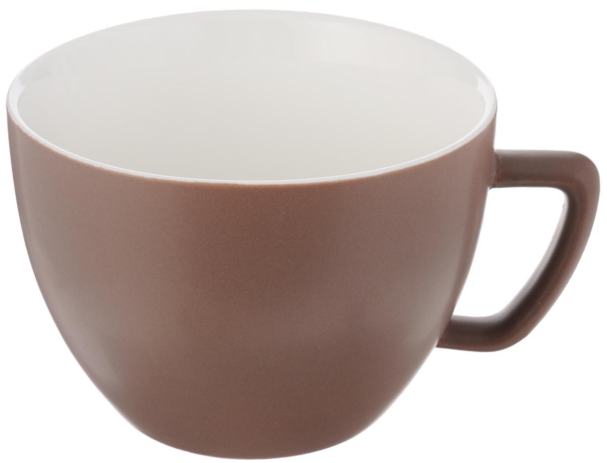 Кружка Tescoma Crema Tone, цвет: коричневый, 550 мл387148_коричневыйКружка Tescoma Crema Tone, изготовленная из высококачественного фарфора, прекрасно дополнит интерьер вашей кухни. Изящный дизайн кружки придется по вкусу и ценителям классики, и тем, кто предпочитает утонченность и изысканность. Кружка Tescoma Crema Tone станет хорошим подарком к любому празднику. Диаметр (по верхнему краю): 12 см.Высота: 9 см.