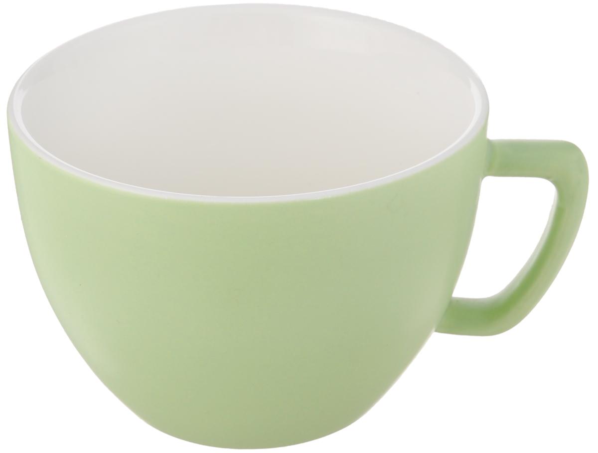 Кружка Tescoma Crema Tone, цвет: зеленый, 550 мл387148_зеленыйКружка Tescoma Crema Tone, изготовленная из высококачественного фарфора, прекрасно дополнит интерьер вашей кухни. Изящный дизайн кружки придется по вкусу и ценителям классики, и тем, кто предпочитает утонченность и изысканность. Кружка Tescoma Crema Tone станет хорошим подарком к любому празднику. Диаметр (по верхнему краю): 12 см.Высота: 9 см.