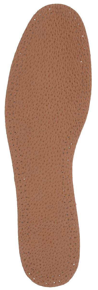 Стелька OmaKing, с содержанием активированного угля, цвет: коричневый, 2 шт. T440-36. Размер 35/36T440-36Кожаные стельки изготовлены из эластичной свиной кожи на подкладке из латекса с содержанием активированного угля, который помогает предотвратить запах, впитывает влагу и создает благоприятный микроклимат для ног.