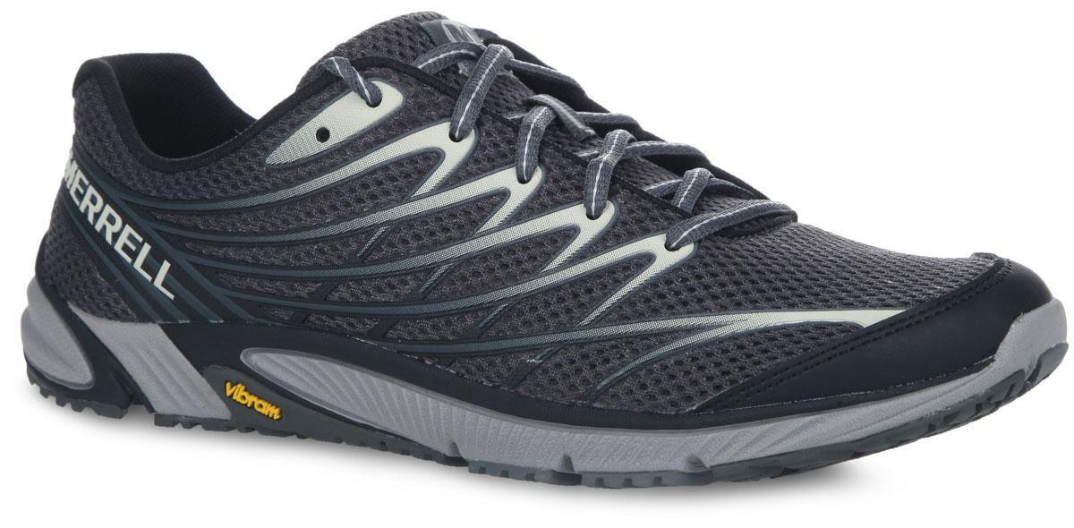 Кроссовки для бега мужские Merrell Bare Access 4, цвет: черный, серый. J03925. Размер 11H (46)