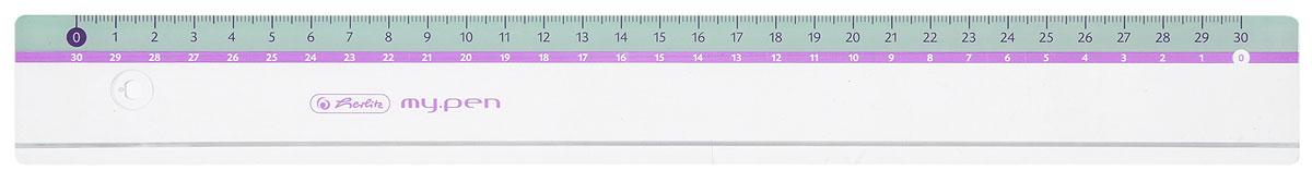 Herlitz Линейка My Pen цвет голубой 30 см
