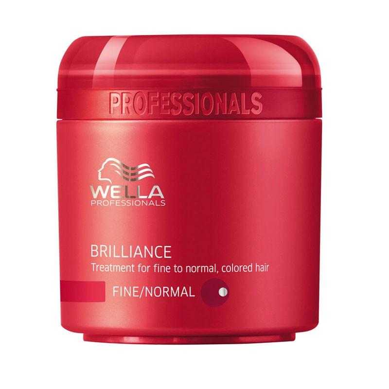 Wella Крем-маска Brilliance Line для окрашенных нормальных и тонких волос, 150 мл115609Крем-маска Wella для окрашенных нормальных и тонких волос имеет в своем составе уникальную бриллиантовую пыльцу, которая придаст вашим локонам естественное сияние и ухоженный внешний вид. Крем-маска отлично защищает волосы от негативного воздействия окружающей среды, делает их более шелковистыми и мягкими, поддерживает естественный уровень рН и насыщает питательными веществами, а также стимулирует рост каждого волоска, успокаивает кожу головы.Как результат, ваши волосы станут более яркими, блестящими и послушными.