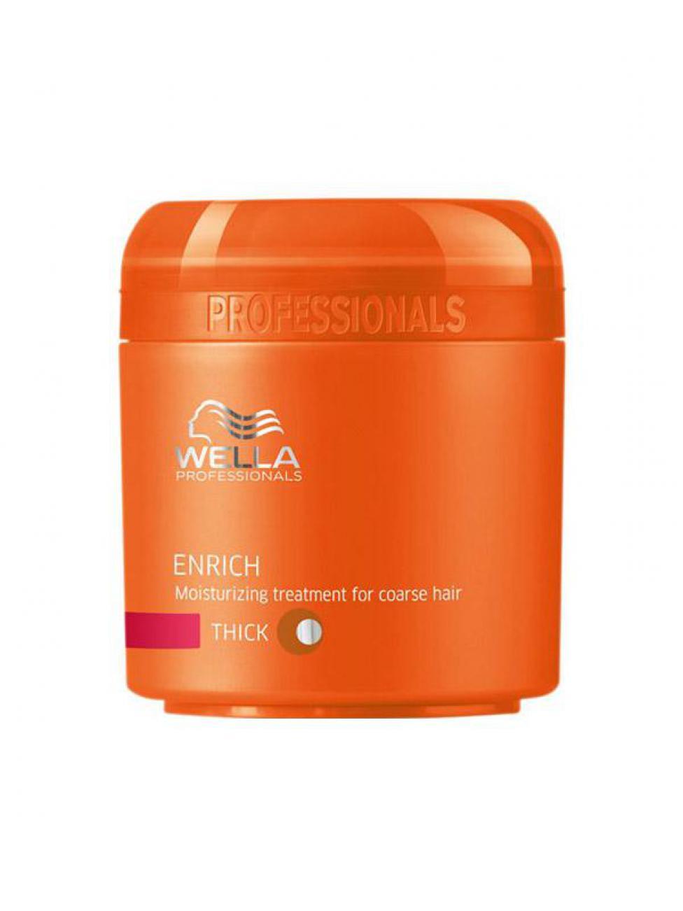 Wella Питательная крем-маска Enrich Line для жестких волос, 150 мл117375Сохранить естественный внешний вид жестких волос, смягчить их вам поможет питательная крем-маска от Wella. Она восстанавливает поврежденные волосы, не утяжеляет их, придает им бриллиантовый блеск, мерцание и шелковистость. В состав этого средства входит экстракт шелка. Эксклюзивная салонная формула позволяет крем-маске бережно ухаживать за вашими локонами, придавая им восхитительный внешний вид.После первого же использования крем-маски ваши волосы станут гладкими и блестящими.В состав средства входят такие компоненты, как пантенол, экстракт шелка, витамин E, эксклюзивная Салонная Формула, глиоксиловая кислота..