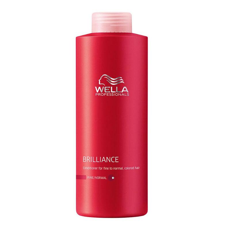 Wella Бальзам Brilliance Line для окрашенных жестких волос, 1000 мл117658Для интенсивного ухода за жесткими окрашенными волосами стоит воспользоваться новинкой серии Brilliance - бальзамом, который окажет комплексное, активное воздействие. Увлажнение, антистатический эффект, смягчение кожи и волос именно таким действием обладает бальзам. Благодаря уникальному составу средства, каждый волос будет иметь защитный эластичный слой, который усилит цвет и блеск волос. Использование бальзама улучшает состояние волос, они становятся более послушными, гладкими и блестящими, также обеспечивается дополнительный объем при укладке.Результатом использования бальзама для окрашенных жестких волос является придание силы и упругости волосам, продление сияния и яркости цвета.В состав входят такие компоненты, как пантенол, катионоактивный полимер, экстракт орхидеи, глиоксиловая кислота, витамин Е, бриллиантовая пыльца.