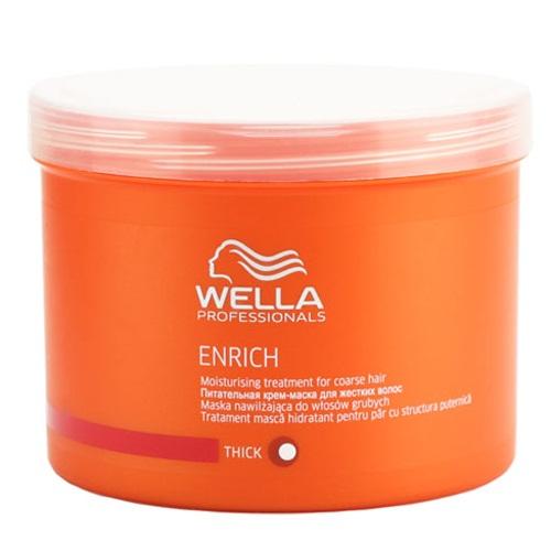 Wella Питательная крем-маска Enrich Line для жестких волос, 500 мл122560Сохранить естественный внешний вид жестких волос, смягчить их вам поможет питательная крем-маска от Wella. Она восстанавливает поврежденные волосы, не утяжеляет их, придает им бриллиантовый блеск, мерцание и шелковистость. В состав этого средства входит экстракт шелка. Эксклюзивная салонная формула позволяет крем-маске бережно ухаживать за вашими локонами, придавая им восхитительный внешний вид.После первого же использования крем-маски ваши волосы станут гладкими и блестящими.В состав средства входят такие компоненты, как пантенол, экстракт шелка, витамин E, эксклюзивная Салонная Формула, глиоксиловая кислота..
