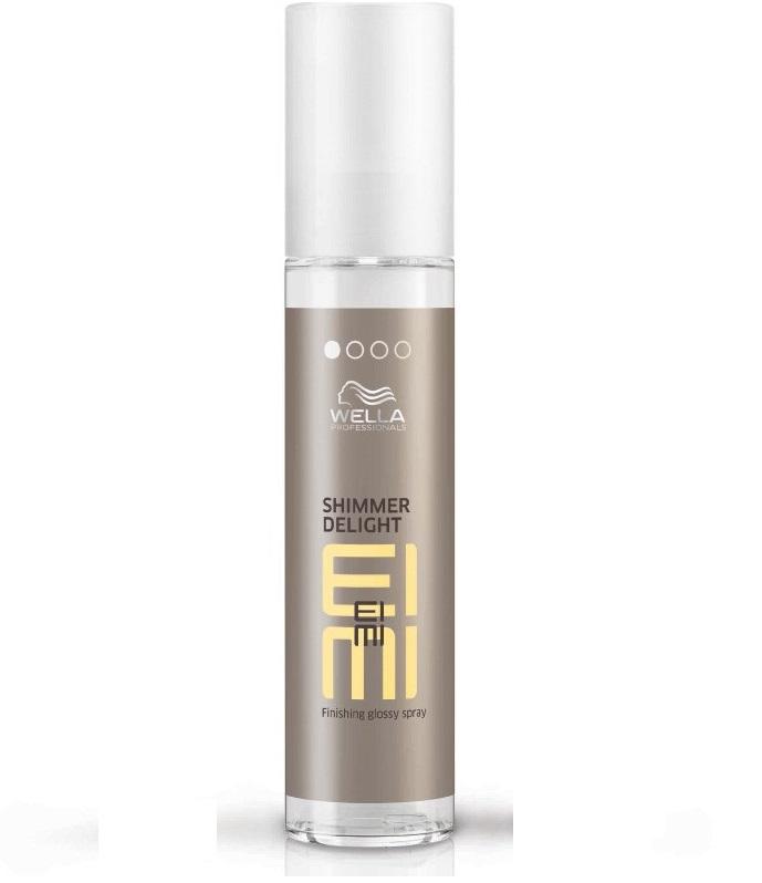 Wella Спрей для мерцающего блеска EIMI Shimmer Delight, 40 мл123659Спрей для блеска 1 степени фиксации это средство для любого типа стайлинга и любого типа волос, обладающее антистатическим эффектом и придающее волосам легкое мерцани.