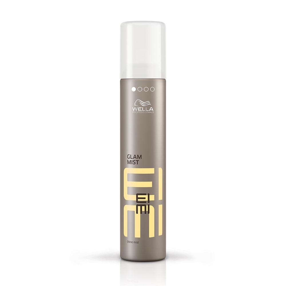 Wella EIMI Glam Mist - Дымка-спрей для блеска 200 мл81511637/4334Добавьте Вашей укладке ослепительной гламурности с помощью невесомой дымки-спрея Glam Mist от EIMI Wella Professionals, которая окутает волосы дымкой сияющего блеска. Защищает волосы от воздействия влаги и UV-лучей.