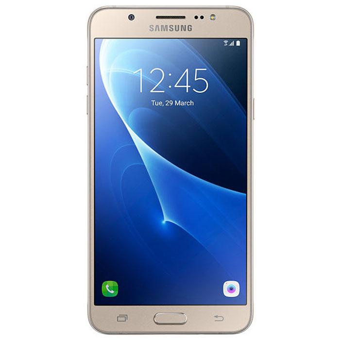 Samsung SM-J710FN Galaxy J7, GoldSM-J710FZDUSERSamsung SM-J710FN Galaxy J7 - элегантный и надежный смартфон в цельнометаллическом корпусе.Сюжеты из вашей жизни в наилучшем видеСветосильные (F1.9) объективы камер на лицевой и задней панелях - гарантия ярких и четких снимков даже при низкой освещенности. Двойное нажатие кнопки Домой мгновенно активирует режим фотосъемки.Светодиодная (LED) вспышка и режим Beauty обеспечат великолепное качество изображения, а режим Управление жестами сделают это за считанные секунды.Вся информация с одного взглядаМгновенный доступ ко всей важной информации, включая состояние аккумулятора, объем доступной памяти и состояние системы безопасности.Режим энергосбереженияЭффективный режим энергосбережения продлит работу смартфона.Телефон сертифицирован Ростест и имеет русифицированный интерфейс меню, а также Руководство пользователя.Телефон для ребёнка: советы экспертов. Статья OZON Гид