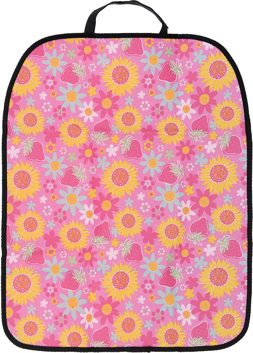 Накидка защитная на спинку сиденья Zipower, для девочек, 60 х 48 см защитная накидка смешарики под детское кресло цвет серый 118 х 48 см