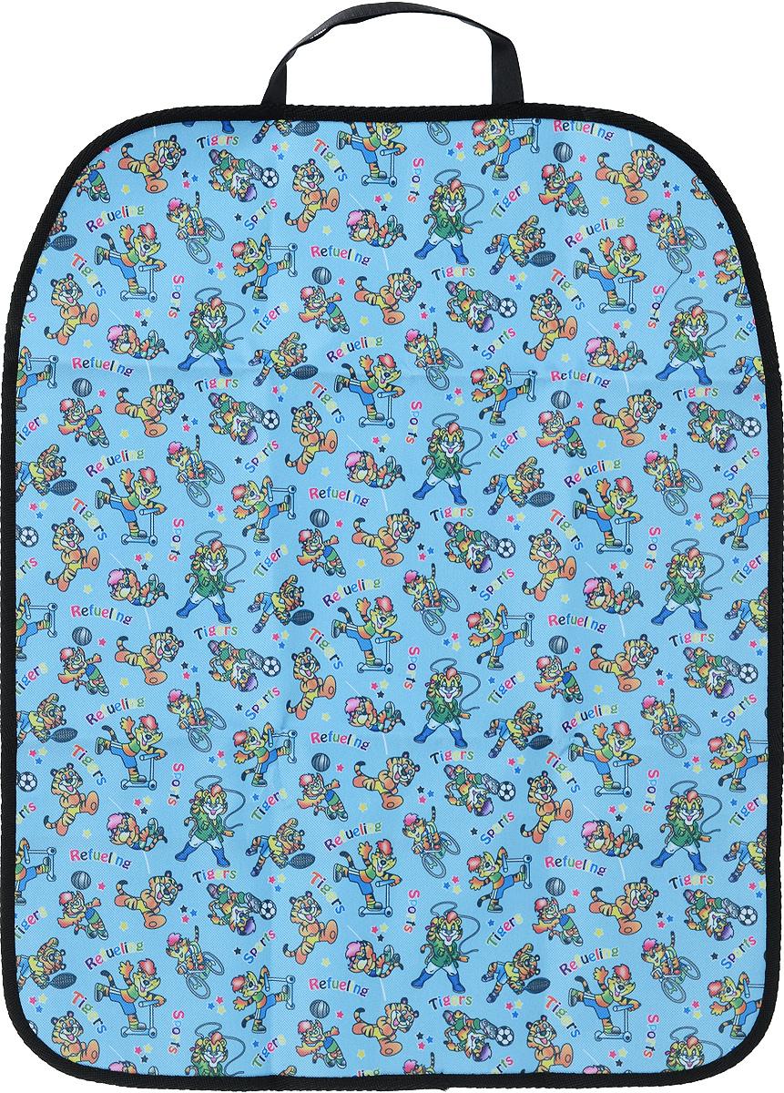 Накидка защитная на спинку сиденья Zipower, для мальчиков, 60 х 48 см защитная накидка смешарики под детское кресло цвет серый 118 х 48 см