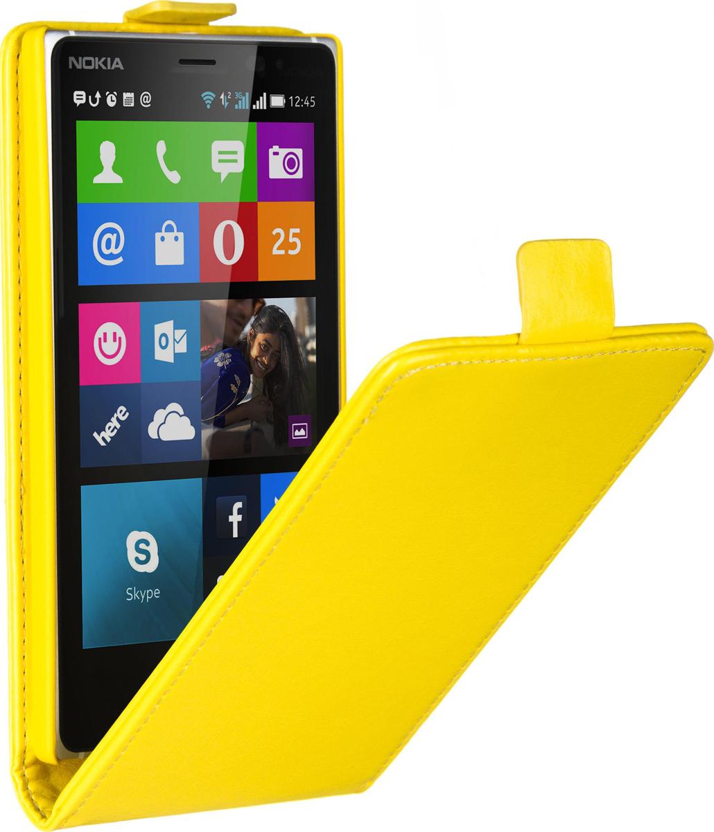 все цены на  Skinbox Flip Case чехол для Nokia Lumia 830, Yellow  онлайн