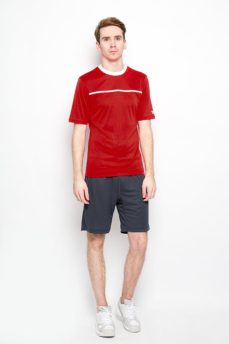 Шорты для тенниса мужские Wilson nVision Elite 9 Knit Short, цвет: серый. WRA702902. Размер XL (50/52)WRA702902Мужские шорты для тенниса nVision Elite 9 Knit Short - это незаменимый атрибут в гардеробе любого спортсмена. Стильные удобные шорты выполнены из 100% полиэстера, благодаря чему превосходно сидят, не стесняют движений и великолепно отводят влагу, оставляя тело сухим даже во время интенсивных тренировок.Модель дополнена широкой эластичной резинкой на талии. Объем пояса регулируется при помощи шнурка-кулиски. Спереди шорты имеют два втачных кармана. Устремляясь за очередным укороченным ударом и высоким мячом, используйте всю силу ног, а легкие шорты помогут вам в этом: они подарят комфорт и полную свободу движений. Эти модные шорты послужат отличным дополнением к вашему спортивному гардеробу. В них вы всегда будете чувствовать себя уверенно и комфортно.