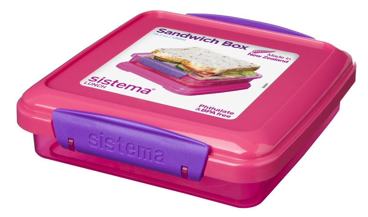Контейнер для сэндвичей Sistema, цвет: малиновый, 450 мл31646_малиновыйИдеально подходит для хранения сэндвичей. Экономия места – модульная система хранения. Подходит для использования в холодильнике и морозильной камере. Можно использовать в микроволновой печи без крышки. Сохраняет свежесть продуктов – силиконовый уплотнитель. Плотное закрытие – фирменные защелки Sistema. Легко моется – можно мыть в посудомоечной машине. Безопасный – не содержит бисфенол А и фталаты. Разработано и произведено в Новой Зеландии.