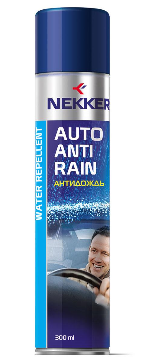Антидождь Nekker, 300 мл66801708Высокоэффективное водоотталкивающее средство. Обеспечивает комфортное безопасное вождение. Улучшает дорожную видимость во время дождя и снегопада. Не оставляет разводов. Походит для внешней поверхности лобовых и боковых стекол, зеркал бокового вида.Товар сертифицирован.