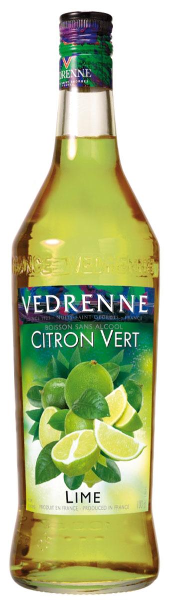 Vedrenne Лайм Джус сироп, 1 лSVDRLJ-010B01Сироп Vedrenne Лайм Джус изготовлен из натурального сока лайма - небольшого цитрусового фрукта с желто-зеленой шкуркой, сочной кислой мякотью и терпким горьковатым привкусом.Сироп создан на основе натурального растительного сырья, фруктового сока прямого отжима, с использованием очищенной воды без вредных примесей, что позволяет выдержать все ценные и полезные свойства фрукта. В состав сиропа входит только натуральный сахар, произведенный по традиционной технологии из сахарозы. Благодаря высокому содержанию концентрированного фруктового сока, сироп Vedrenne обладает изысканным ароматом и натуральным вкусом, является эффективным подсластителем при незначительной калорийности. Он оптимизирует уровень влажности и процесс кристаллизации десертов, хорошо смешивается с другими ингредиентами и способствует улучшению вкусовых качеств напитков и десертов.Сироп Vedrenne разлит в стеклянную бутылку с яркой этикеткой, на которой изображены лаймы. Емкость с сиропом герметична, поэтому не позволяет содержимому контактировать с микроорганизмами и другими губительными внешними воздействиями. Кроме того, стеклянная бутылка выглядит оригинально и стильно.Аромат сиропа легкий, освежающий, с ярко-выраженной кислинкой. Вкус яркий, насыщенный, свежий, натуральный. Рецепт коктейля Ананасовый КоблерИнгредиенты: - 10 мл сиропа Vedrenne Лайм Джус;- 20 мл ананасового сока; - сок красной смородины; - лед. Способ приготовления: В бокал, на 2/3 заполненный льдом, влить ананасовый сок и сироп Лайм Джус. Долить сок с красной смородиной. Аккуратно перемешать. Украсить ломтиком лайма.