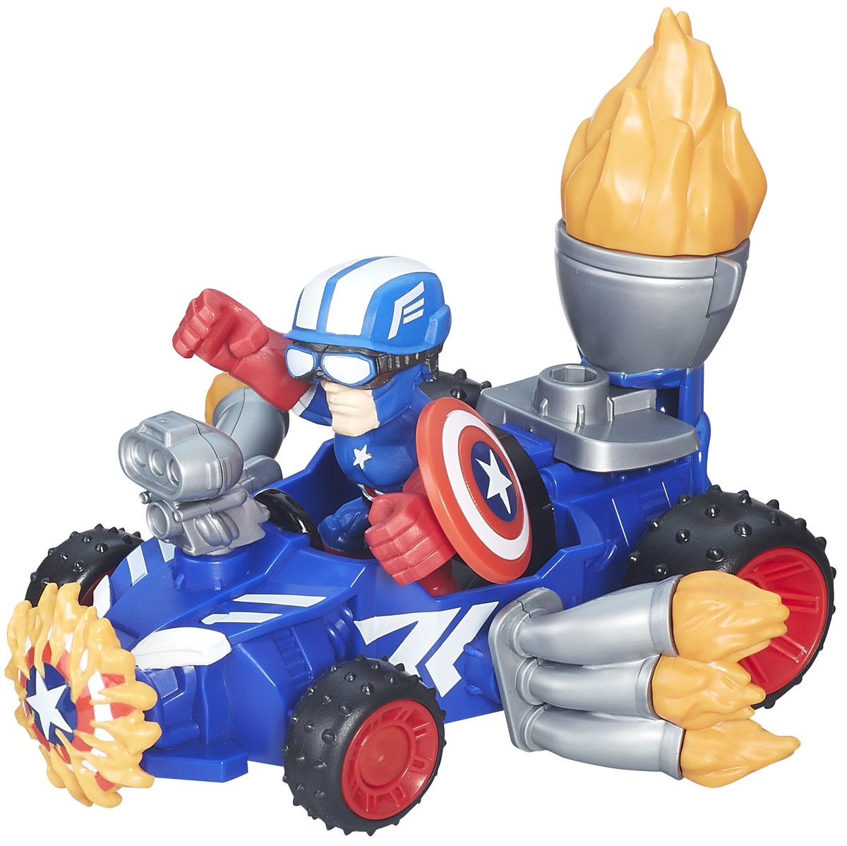 Heromashers Набор фигурок Captain America Racer avengers маска captain america цвет голубой