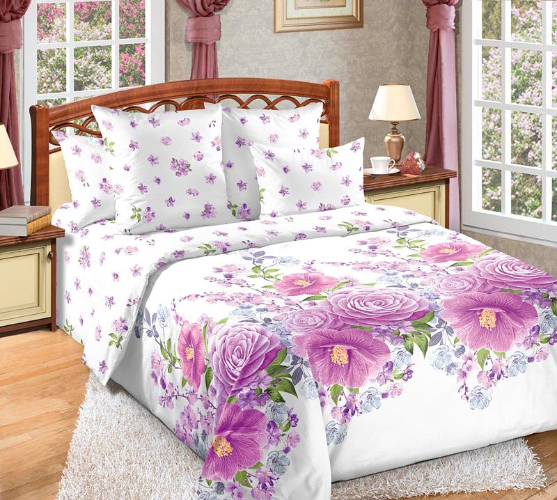 Комплект белья Текс-Дизайн Камелия, евро, наволочки 70x70 , цвет: фиолетовый, белый4250ПВеликолепное постельное белье Текс-Дизайн Камелия выполнено из высококачественного перкаля (100% хлопок) и оформлено оригинальным рисунком. Комплект состоит из пододеяльника, простыни и двух наволочек.Перкаль - это тонкая и легкая хлопчатобумажная ткань высокой плотности полотняного переплетения, сотканная из пряжи высоких номеров. При изготовлении перкаля используются длинноволокнистые сорта хлопка, что обеспечивает высокие потребительские свойства материала. Несмотря на свою утонченность, перкаль очень практичен - это одна из самых износостойких тканей для постельного белья.Советы по выбору постельного белья от блогера Ирины Соковых. Статья OZON Гид