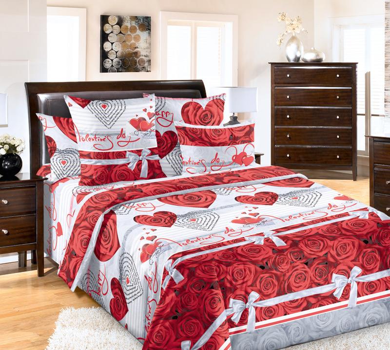 Комплект белья Текс-Дизайн Комплимент, евро, наволочки 70х704200ППостельное белье Комплимент – это великолепный подарок в романтическом стиле для людей, которые ценят оригинальность оформления и качество постельной ткани. Этот набор выполнен в красно-белой гамме и украшен традиционными романтичными атрибутами – розами, сердцами, бантами. Перкаль - это тонкая и легкая хлопчатобумажная ткань высокой плотности полотняного переплетения, сотканная из пряжи высоких номеров. При изготовлении перкаля используются длинноволокнистые сорта хлопка, что обеспечивает высокие потребительские свойства материала. Несмотря на свою утонченность, перкаль очень практичен – это одна из самых износостойких тканей для постельного белья.