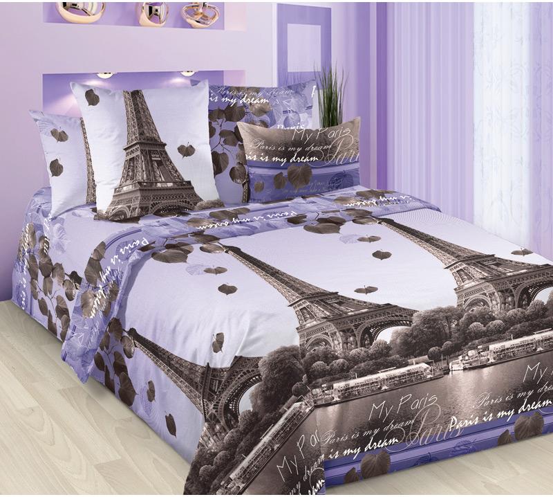 Комплект белья Текс-Дизайн Романтика Парижа 1, семейный, наволочки 70х70 комплект семейный романтика баттерфляй