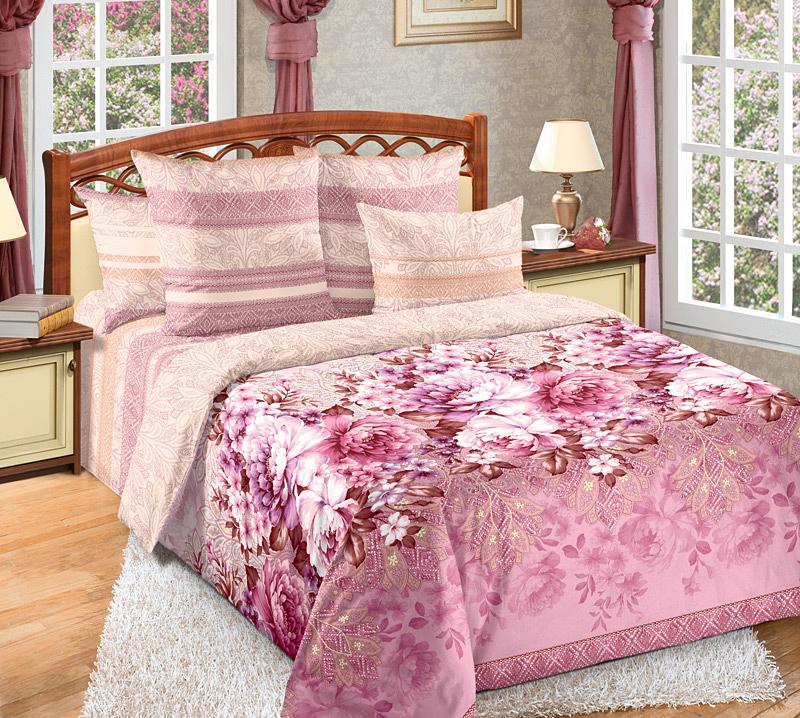 Комплект белья Текс-Дизайн Лукреция, семейный, наволочки 70х706250ПВеликолепное постельное белье Текс-Дизайн Лукреция из высококачественного перкаля (100% хлопок) и украшено роскошным цветочным рисунком. Комплект состоит из двух пододеяльников, простыни и двух наволочек. Перкаль - это тонкая и легкая хлопчатобумажная ткань высокой плотности полотняного переплетения, сотканная из пряжи высоких номеров. При изготовлении перкаля используются длинноволокнистые сорта хлопка, что обеспечивает высокие потребительские свойства материала. Несмотря на свою утонченность, перкаль очень практичен - это одна из самых износостойких тканей для постельного белья.