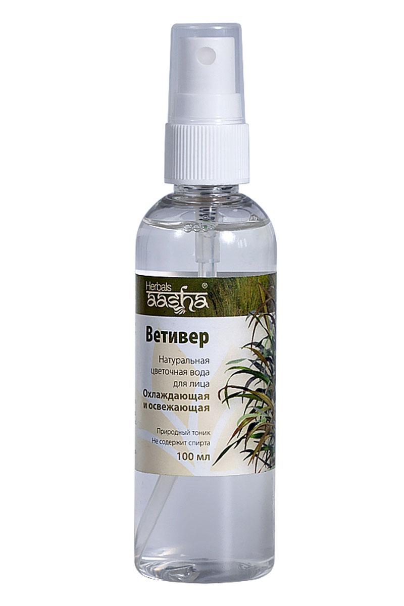Aasha Herbals Цветочная вода для лица Ветивер, 100 мл косметические маски aasha herbals маска для лица подтягивающая