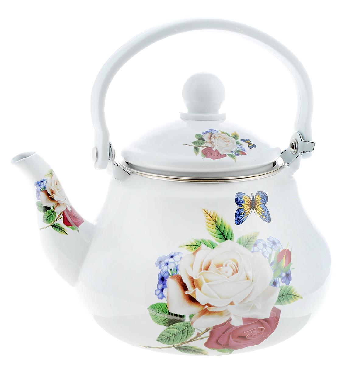 Чайник заварочный Mayer & Boch Роза, 1,5 л25619Заварочный чайник Mayer & Boch Роза изготовлен из высококачественной углеродистой стали с эмалированным покрытием. Такое покрытие защищает сталь от коррозии, придает посуде гладкую стекловидную поверхность и надежно защищает от кислот и щелочей. Изделие прекрасно подходит для заваривания вкусного и ароматного чая, травяных настоев. Чайник оснащен сетчатым фильтром, который задерживает чаинки и предотвращает их попадание в чашку. Оригинальный дизайн сделает чайник настоящим украшением стола. Он удобен в использовании и понравится каждому. Подходит для использования на газовых, стеклокерамических, электрических, галогеновых и индукционных плитах. Можно мыть в посудомоечной машине. Диаметр чайника (по верхнему краю): 9,5 см. Высота чайника (без учета крышки): 11 см.Толщина стенок: 8 мм.