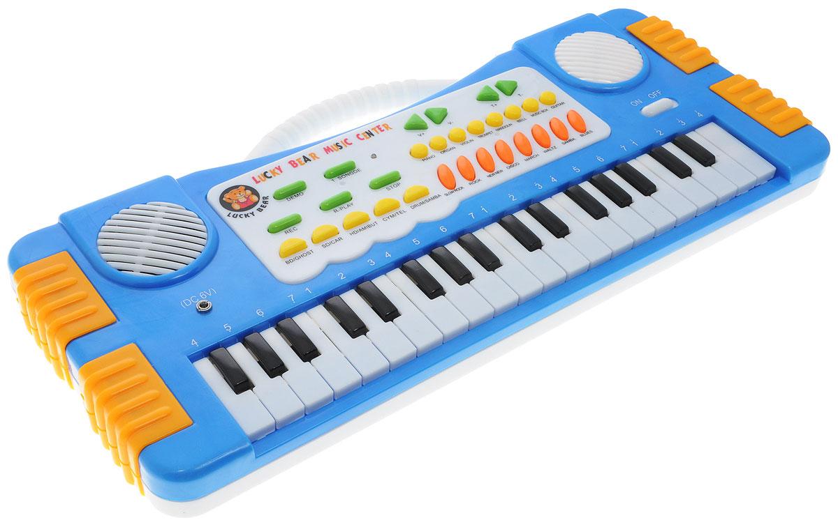 ABtoys Синтезатор DoReMi 37 клавиш цвет синий - Музыкальные инструменты