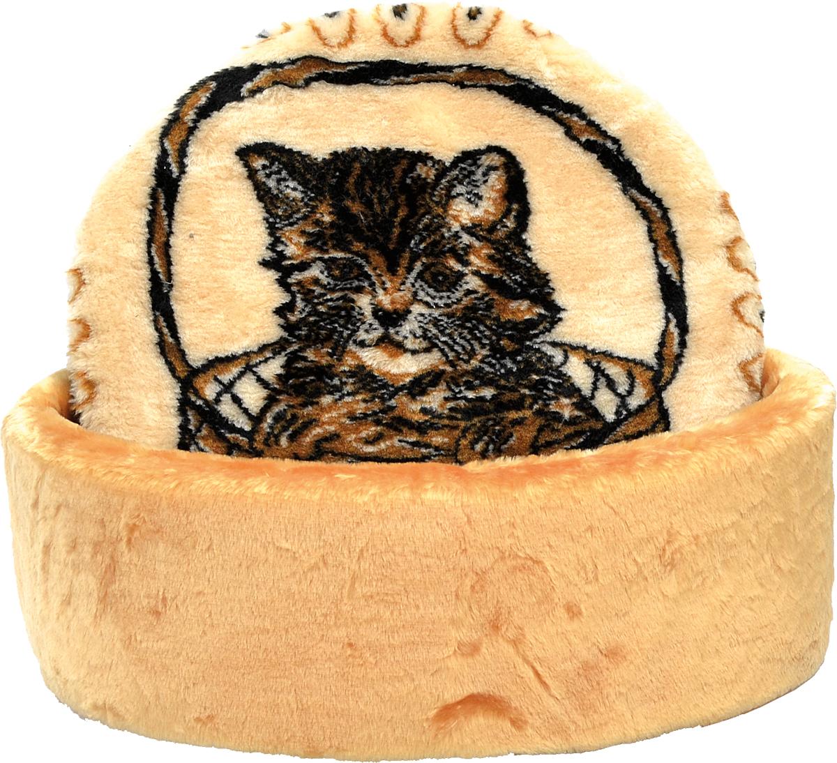 Лежак для животных Зооник Мурзик, цвет: бежевый, коричневый, 45 х 17 см лежак дарэлл хантер лось 1 с подушкой 45 33 14см