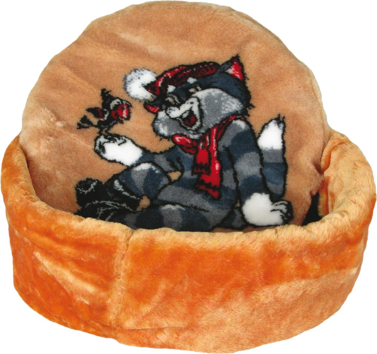 Лежак для животных Зооник Матроскин, цвет: песочный, 48 х 18 см лежак дарэлл хантер лось 1 с подушкой 45 33 14см