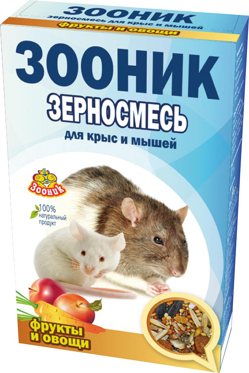 Корм Зооник Стандарт, для крыс и мышей, с фруктами и овощами, 400 г4008Корм Зооник Стандарт - полноценный ежедневный корм для декоративных крыс и мышей, состоящий из отборных зерновых культур с добавлением фруктов и овощей, содержит все важнейшие вещества, богат витаминами и минералами для полноценного здоровья вашего питомца.Состав: овес, ячмень, пшеница, просо, сорго, хлопья овсяные, подсолнечник, кукуруза, экструдированные гранулы, морковь, яблоки.Товар сертифицирован.
