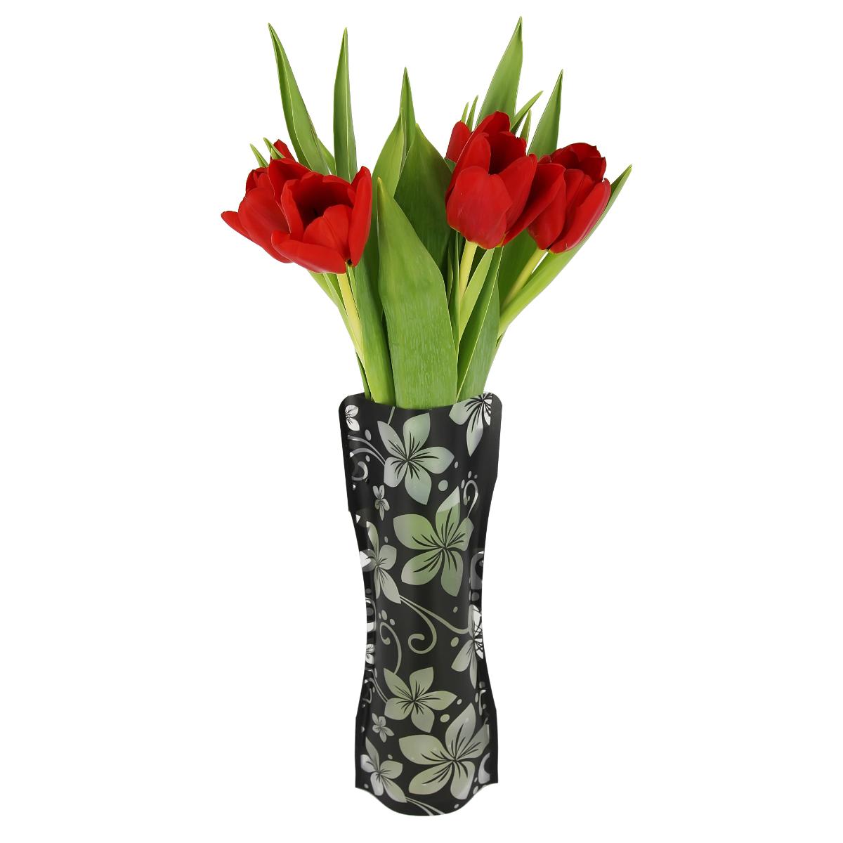 Ваза МастерПроф Черная орхидея, пластичная, 1 л вазы pavone ваза орхидея
