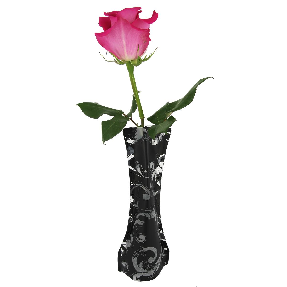 Ваза МастерПроф Зимний узор, пластичная, 0,4 л ваза мастерпроф черная орхидея пластичная 1 л