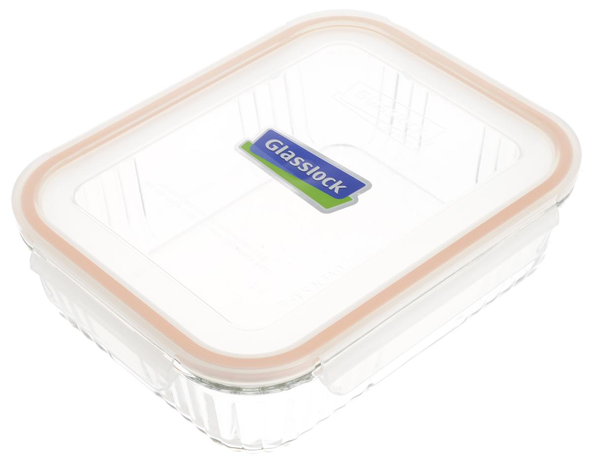 Контейнер для запекания Glasslock, цвет: прозрачный, оранжевый, 1,8 л контейнер для запекания glasslock ocst 210 цвет прозрачный оранжевый 2 1 л