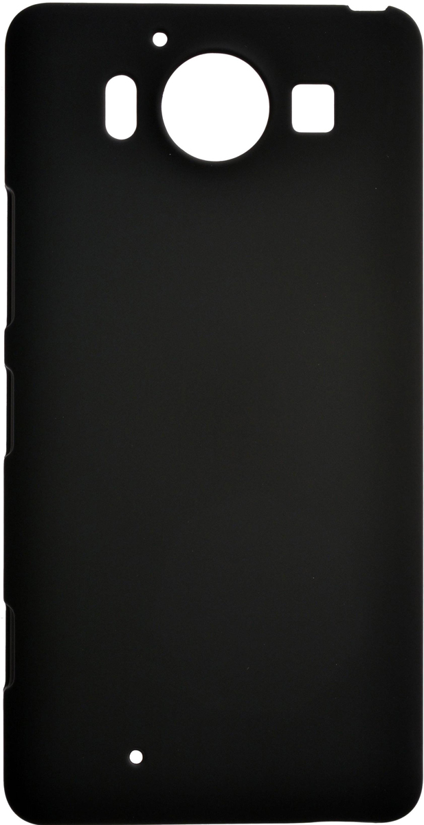 Skinbox 4People чехол для Microsoft Lumia 950, Black чехлы для телефонов skinbox microsoft lumia 435 532 skinbox shield 4people