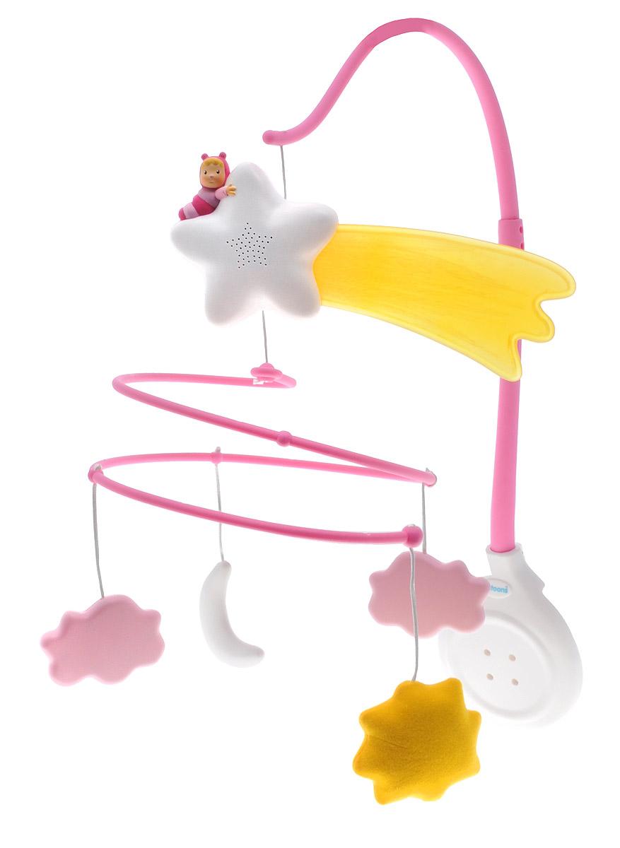 Smoby Музыкальный мобиль Cotoons цвет розовый smoby smoby телефон со светом звуком