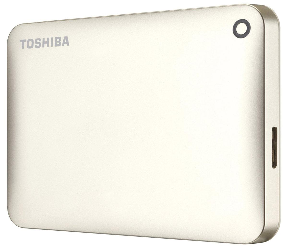 Toshiba Canvio Connect II 1TB, Gold внешний жесткий диск (HDTC810EC3AA) - Носители информации