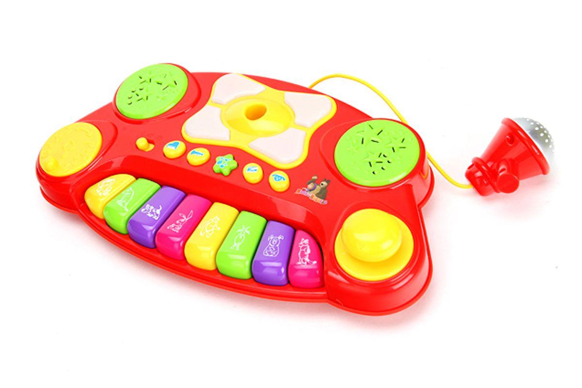 Умка Электропианино Маша и Медведь цвет красный - Музыкальные инструменты