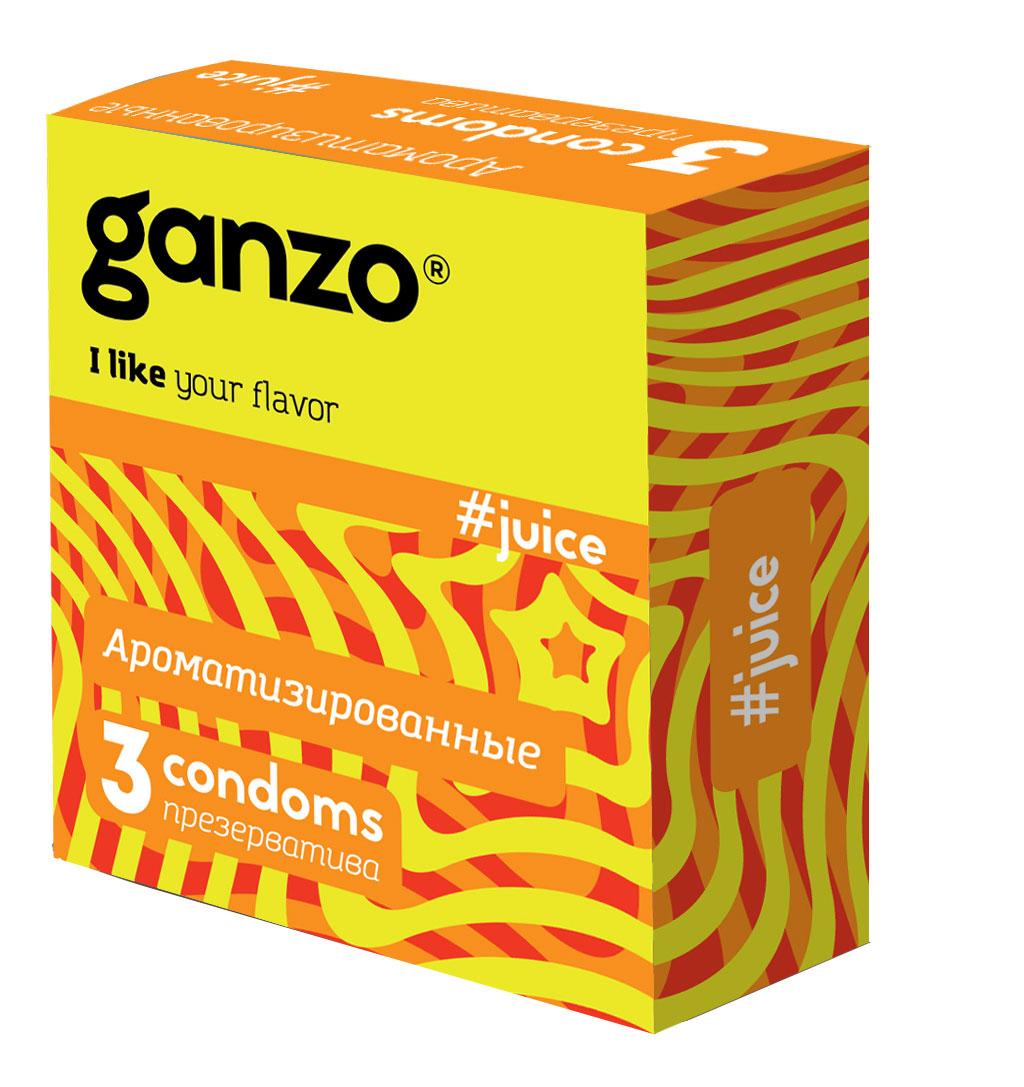 "Ganzo Презервативы ""Juice"", ароматизированные, 3 шт"