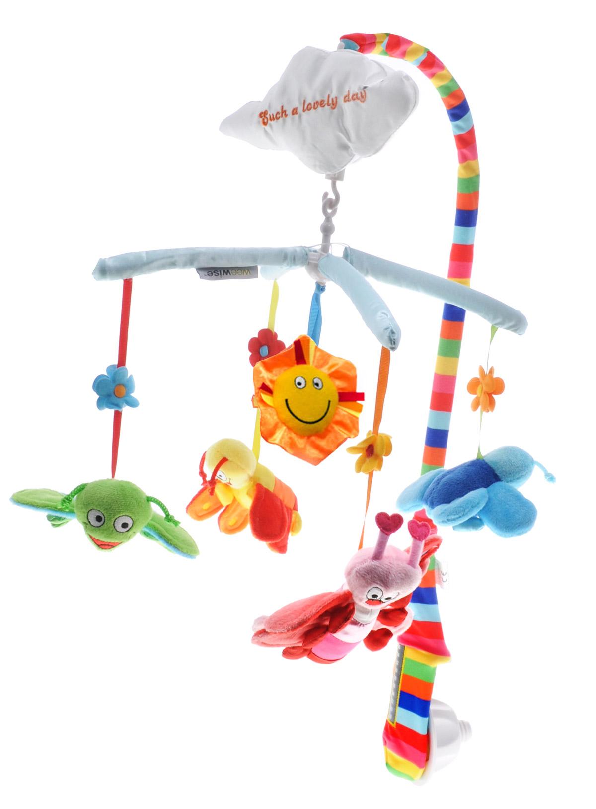 WeeWise Музыкальный мобиль Бабочки - Игрушки для малышей