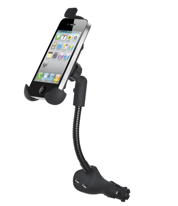 Держатель для телефона автомобильный Zipower. PM 6610PM 6610Автомобильный держатель Zipower, выполненный из высококачественного пластика, подходит для любого автомобиля. С помощью конструкции гибкий стержень водитель может зафиксировать телефон или смартфон в любом удобном для себя положении, а зарядное устройство USB дает уверенность, что телефон не разрядится даже во время долгой поездки. Предназначен для установки в прикуриватель.Особенности держателя:Выполнен из высококачественного материала PC + ABS.Длинная, гибкая штанга.Совместим со смартфонами: Samsung, Nokia, HTC И с большинством других.Легко устанавливается, легко снимается.Поворот на 360°.Зарядное устройство USB с двумя выходами.Регулируемая ширина захвата: 45–75 ммРегулируемая высота захвата: 110–140 мм.