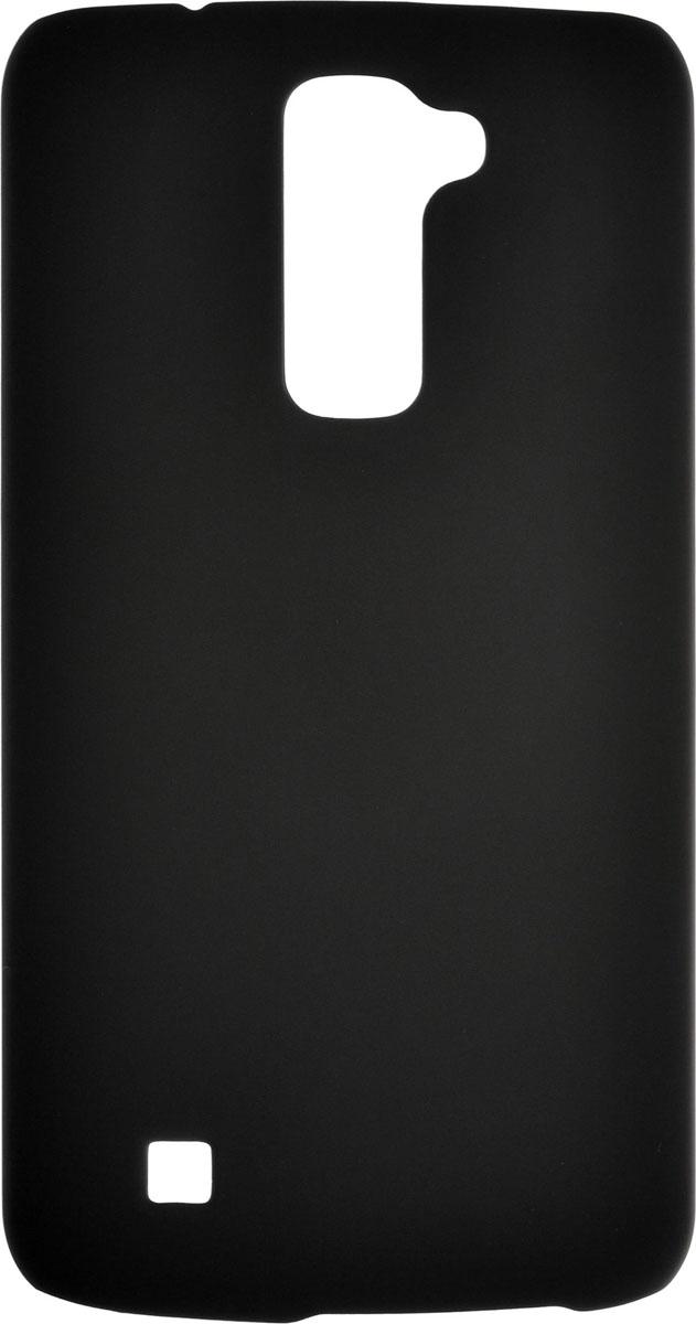 Skinbox 4People чехол для LG K10, Black2000000085777Накладка Skinbox 4People выполнена из высококачественного поликарбоната, плотно прилегает и не скользит в руках. Она отлично справляется с защитой корпуса смартфона от механических повреждений и надолго сохраняет привлекательный внешний вид. Чехол также обеспечивает свободный доступ ко всем разъемам и клавишам устройства.