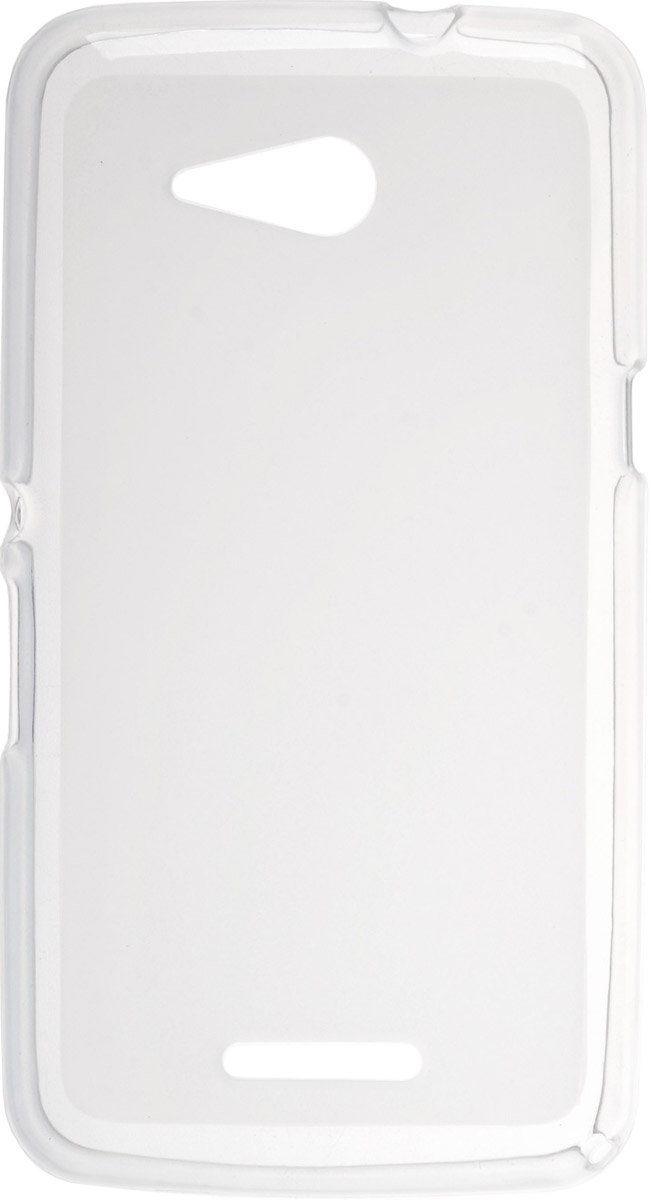Skinbox Silicone чехол для Sony Xperia E4g, Transparent skinbox slim silicone чехол для sony xperia xa transparent