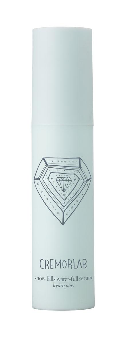 Cremorlab Hydro Plus Интенсивно увлажняющая сыворотка с экстрактом эдельвейса Snow Falls Water-Full Serum, 30 мл61263Высокоэффективная увлажняющая формула сыворотки, в которой природная минеральная вода обогащенная экстрактом эдельвейса и гиалуроновой кислотой, интенсивно увлажняет глубокие слои кожи и дарит ощущение бесконечной свежести. Активные ингредиенты успокаивают кожу, восстанавливают ее бархатистость, возвращают эластичность, сохраняют молодость, защищают кожу от потери влаги, придают тонус. Морской коллаген активизирует клеточный метаболизм, эффективно замедляет процессы старения, насыщает кожу жизненной энергией. После нанесения сыворотка не оставляет пленки и ощущение липкости. Не содержит парабенов, спиртов, искусственных красителей, PABA, талька, вазелина, бензофенона и сульфатов. Подходит для всех типов и состояний кожи.Объем: 30 мл