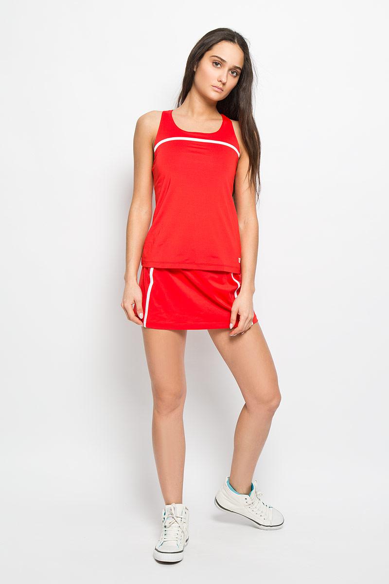 Майка для тенниса женская Wilson Rush Color Inset, цвет: красный. WRA724602. Размер L (46/48)WRA724602Стильная женская майка для тенниса Wilson Rush Color Inset, выполненная из полиэстера с добавлением эластана, обладает высокой теплопроводностью, воздухопроницаемостью и гигроскопичностью и великолепно отводит влагу, оставляя тело сухим даже во время интенсивных тренировок. Модель с круглым вырезом горловины и бретельками, переплетающимися на спинке - идеальный вариант для занятий спортом. Такая майка обеспечит свободу движений. Эргономичные швы минимизируют натирание кожи, исключая дискомфорт. Спинка дополнена вставкой из дышащего материала. Модель оснащена поддерживающим топом на эластичной резинке.Такая майка подарит вам комфорт в течение всей игры и послужит замечательным дополнением к вашему гардеробу.